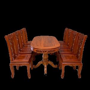 bàn ghế ăn hình bầu dục