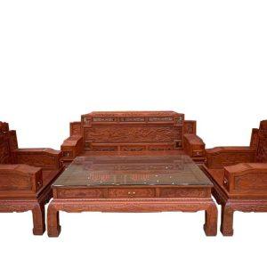 Bộ ghế Sofa đục gỗ hương