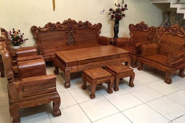 Chọn mua bàn ghế phòng khách theo chất liệu, kiểu dáng và màu sắc