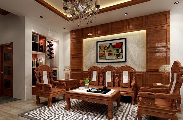 Chọn mua bàn ghế phòng khách theo cách bài trí